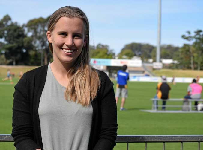 Brisbane Lions AFLW player and former Sawtell/Toormina junior Nikki Wallace.