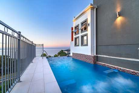 SOLD AT AUCTION: The stunning view from the pool of 25 Bayview Drive, Lammermoor.