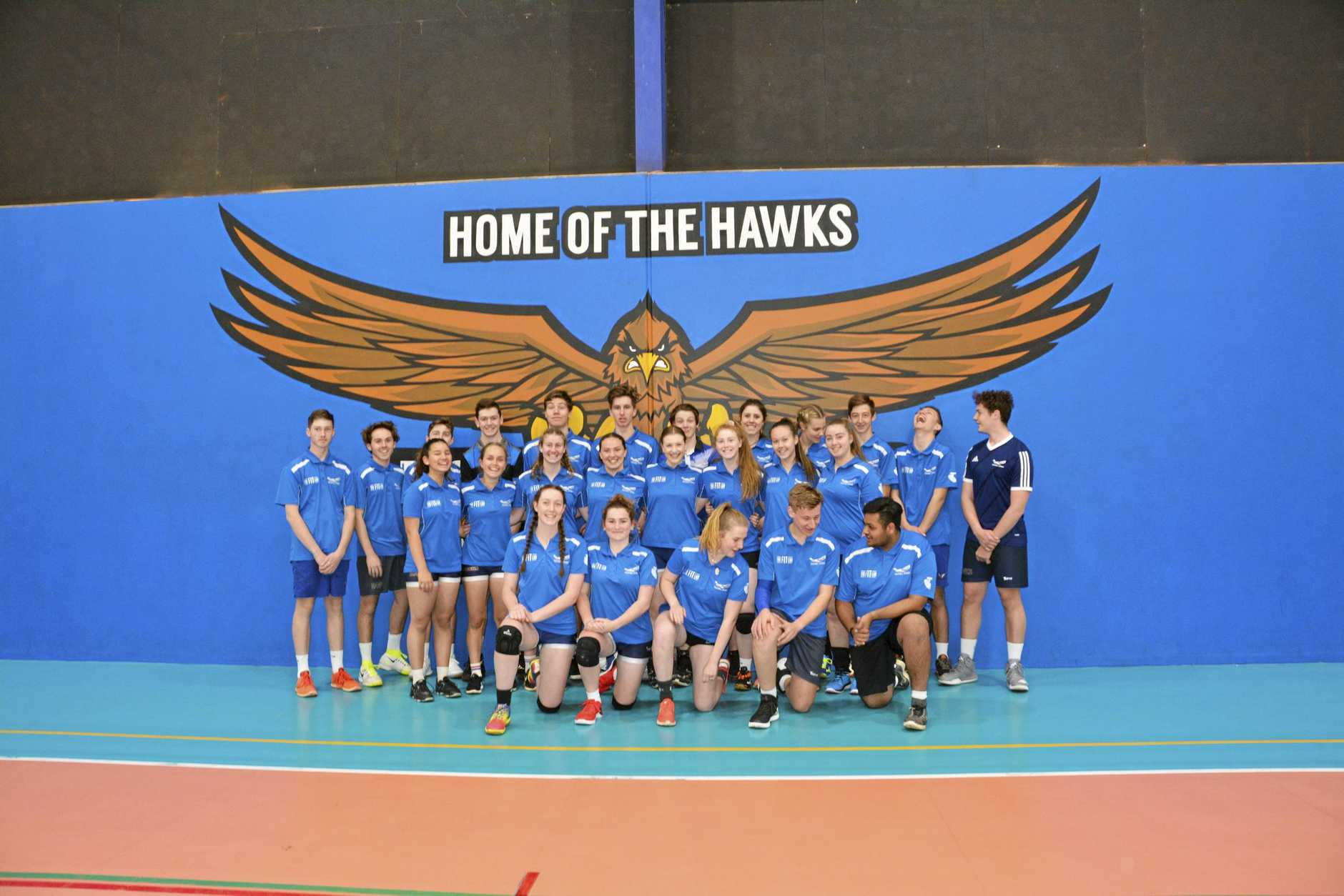 Harristown State High School Volleyball squad prepares for another tilt at the National Championships in Melbourne later this year.