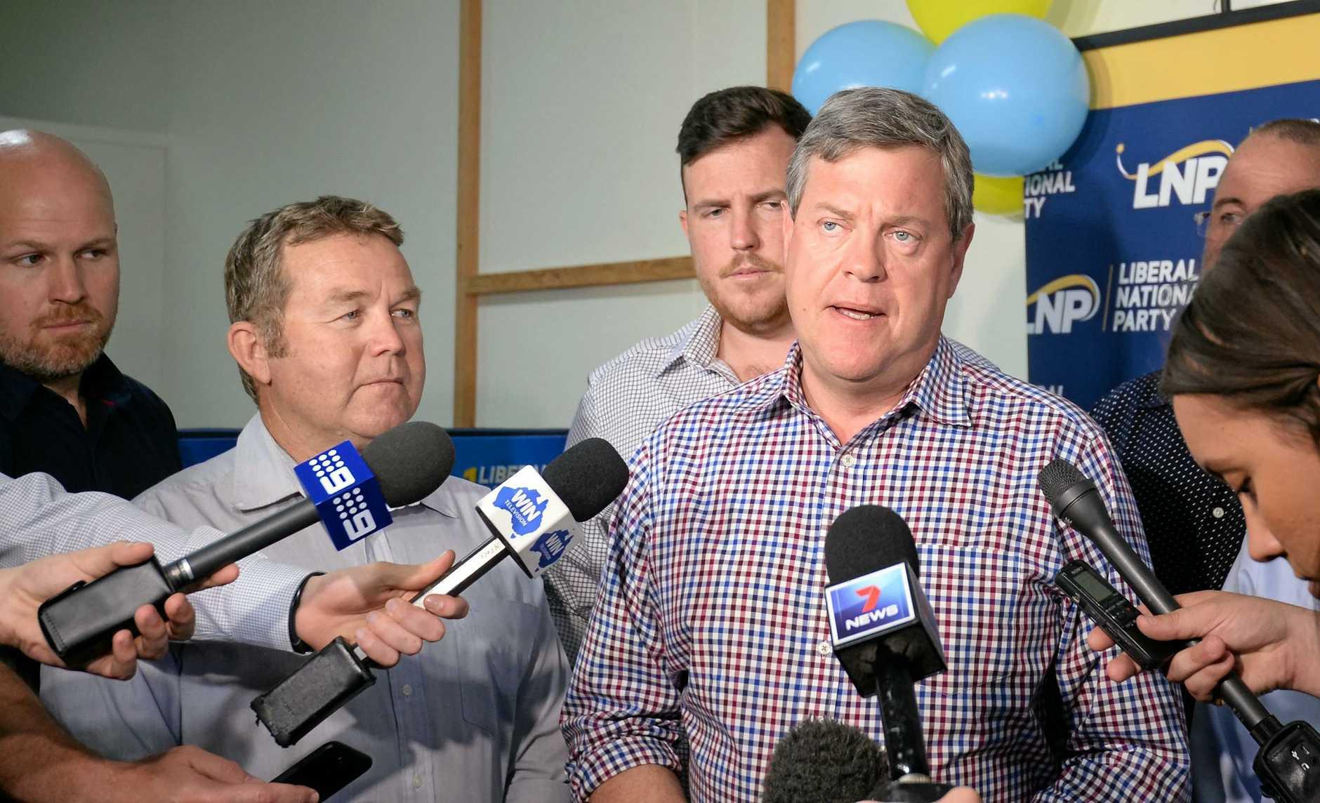 LNP Leader Tim Nicholls in Rockhampton.