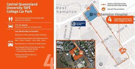 INTERIM MEASURES: New temporary car park option available for  Rockhampton Hospital.