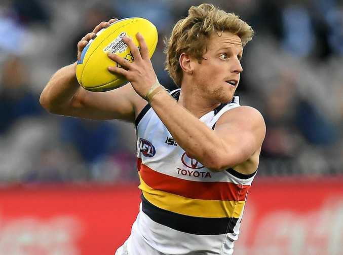 Rory Sloane of the Crows during the round 19 match against the Magpies.