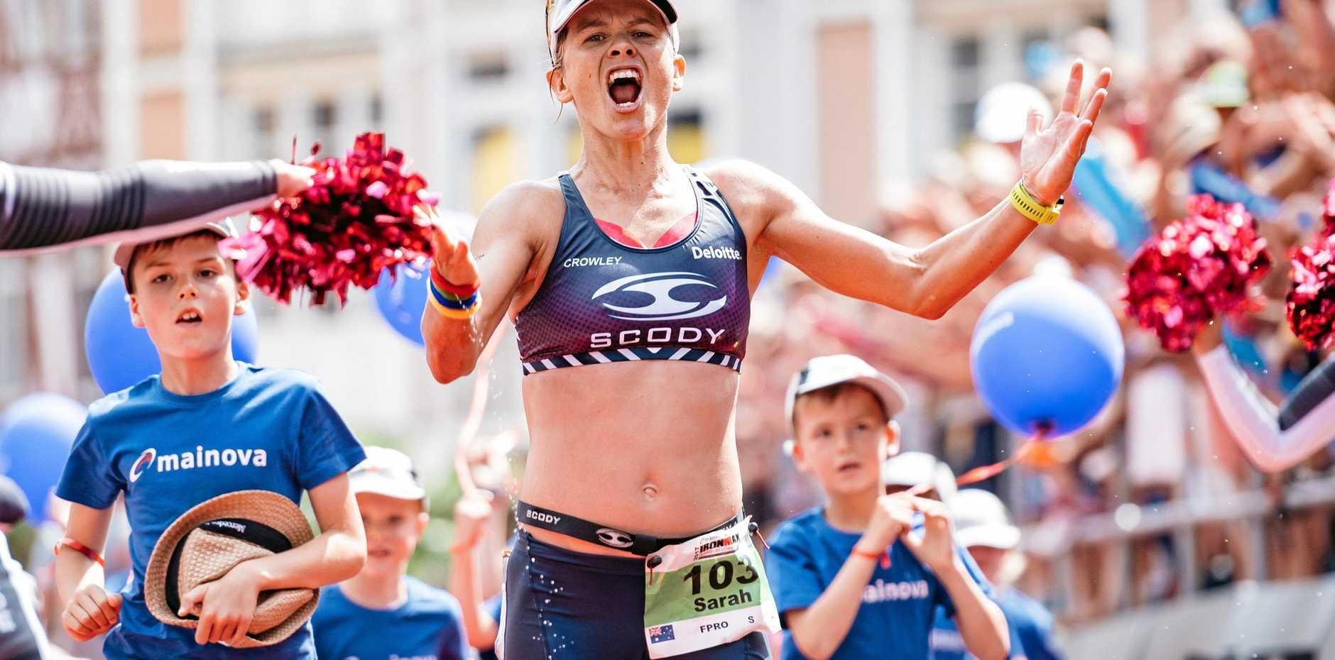 Australian triathlete Sarah Crowley racing in Germany in July.