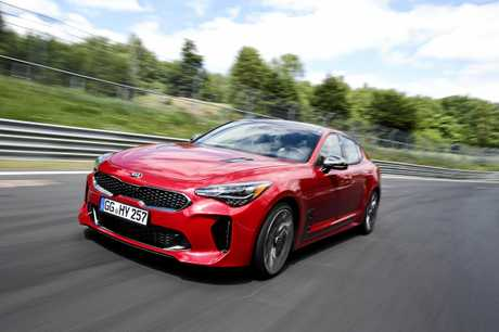 Kia Stinger at Nurburgring.