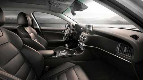 The 2017 Kia Stinger left-hand drive interior.