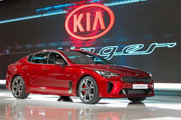 The 2017 Kia Stinger at the Geneva Motor Show.