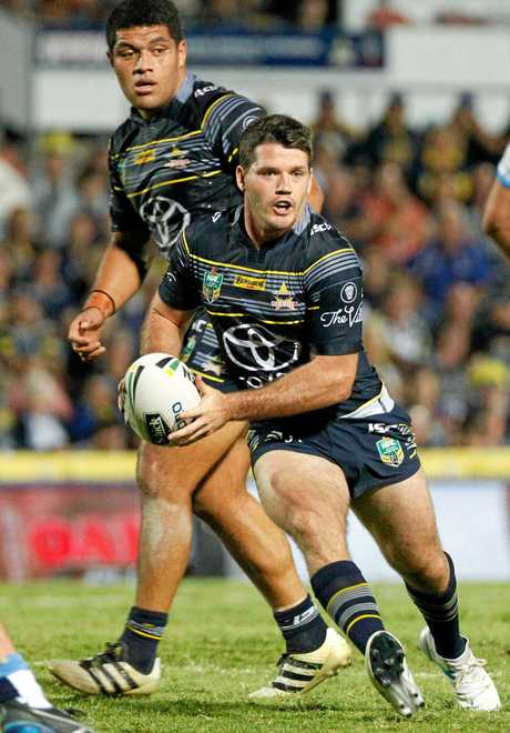 Cowboys fullback Lachlan Coote during the round 13 clash with the Titans.