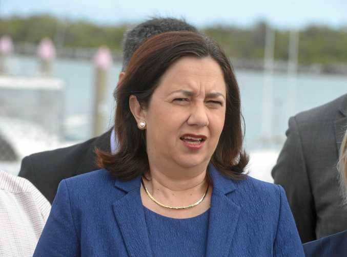 THE PLAN: Queensland premier Annastacia Palaszczuk made a joint statement with Western Downs Mayor, Paul McVeigh.