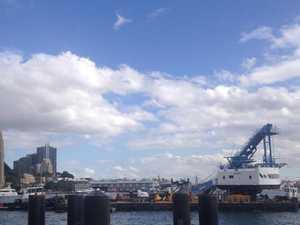 Crane collapses into Sydney Harbour