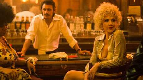 James Franco pulls double duty as twins on The Deuce.Source:Supplied