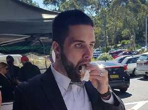 Couple tie knot then head to Bunnings sausage sizzle