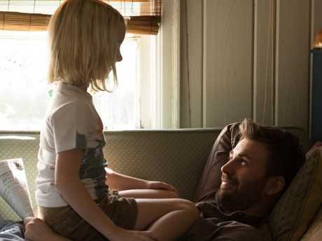 Chris Evans and Mckenna Grace make a touching family unit in Gifted.