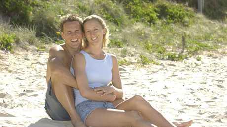 Dean Mercer and Reen Corbett at Mooloolaba Beach.