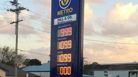 Petrol prices at West Ipswich.