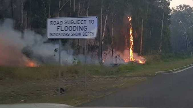 Homes backing onto bushland were threatened for about an hour as crews fought a fire at Craignish on Tuesday night.