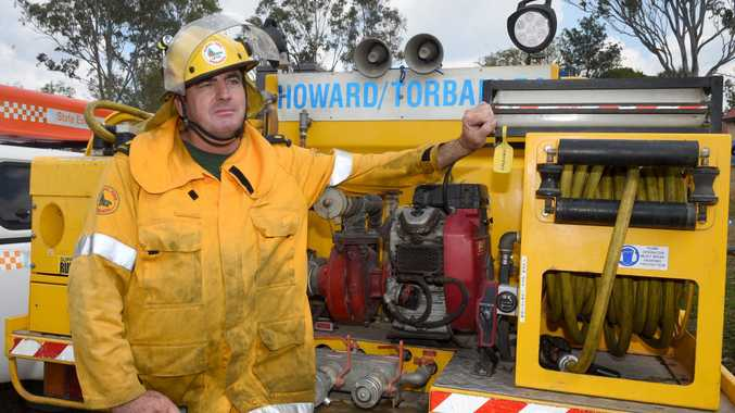Five days of shoulder to shoulder fire fighting - Brigade Officer Ricky Rowland from the Howard/Torbanlea Queensland Rural Fire Brigade.