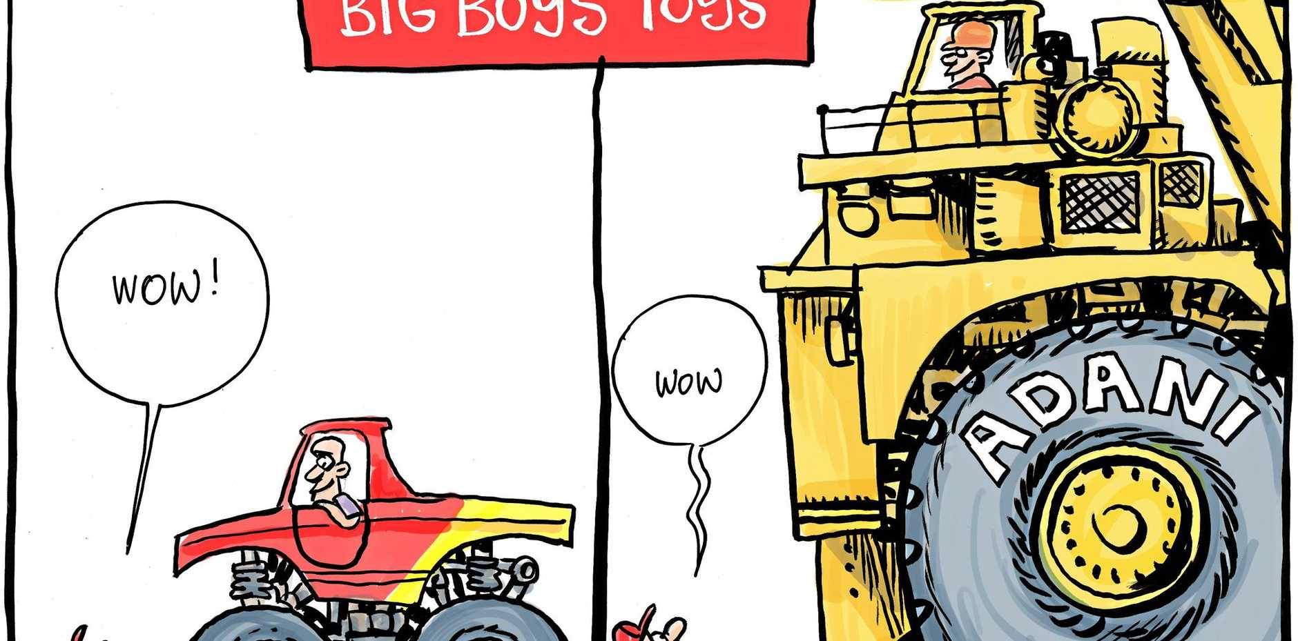 harry bruce cartoon big boys toys/adani
