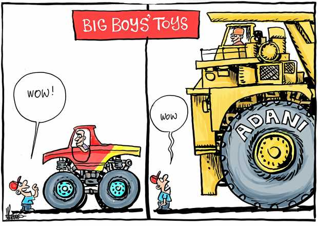 harry bruce cartoon big boys toys/adani