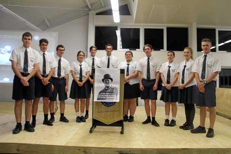INSPIRATION MOTIVATORS: Year 12 English class at 'Success' speeches night.