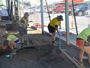 Footpath replacement ahead of Monto CBD revitalisation