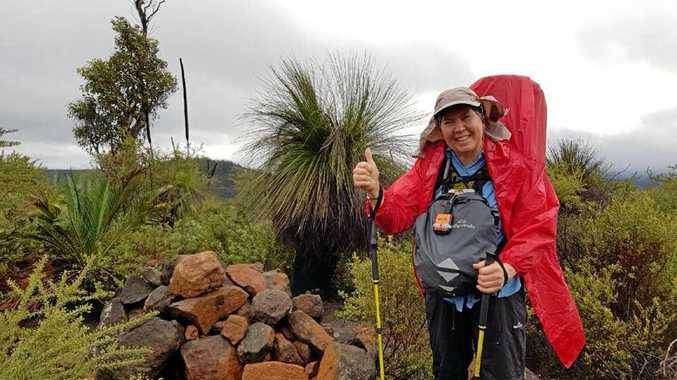 MISSION COMPLETE: Colleen Nicholas makes her journey across Western Australia on the 1000km long Bibbulmun Track.