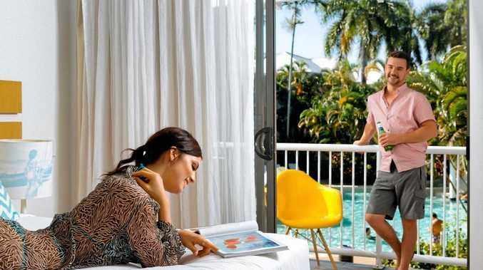 WINNING VIEW: Relax in your room at the QT Port Douglas.