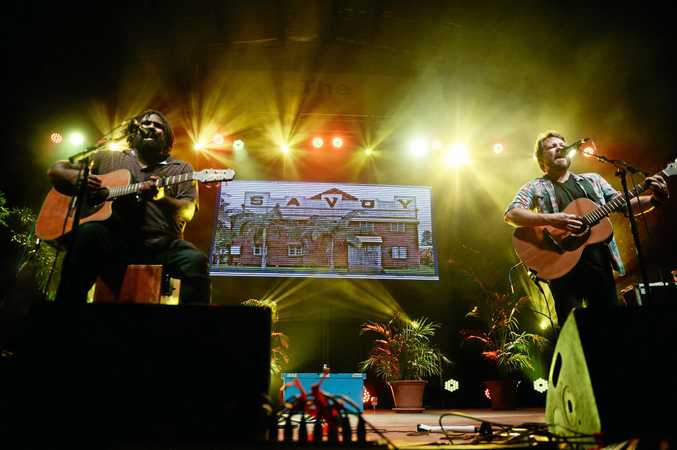 BACK TO THE ROOTS: Busby Marou at their last concert in Rockhampton earlier this year.