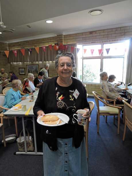 Enjoying the breakfast festivities was resident Joan Nowitzke.