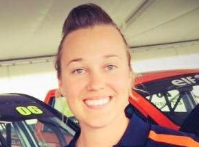 DRIVING DREAMS: Toowoomba's Alexandra Whitley races in the Ssangyong ute series in New Zealand.