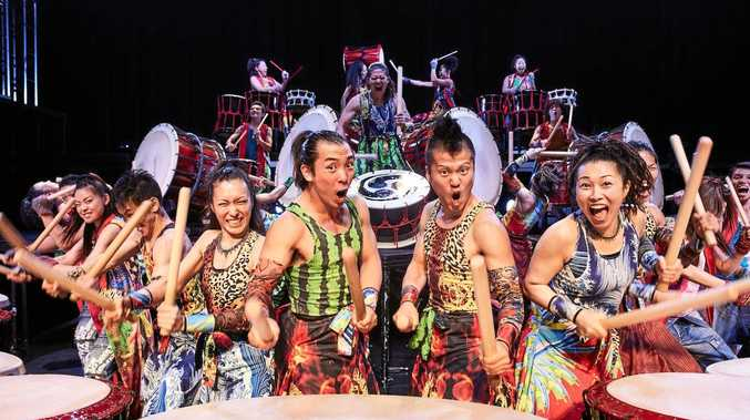 PUMPING: Yamato the Drummers of Japan are ready to take to the stage in an electrifying performance in Maryborough.
