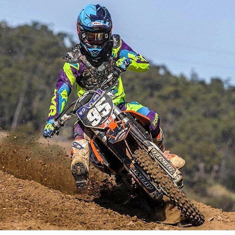 Daniel Boyce riding his KTM 250cc dirt bike