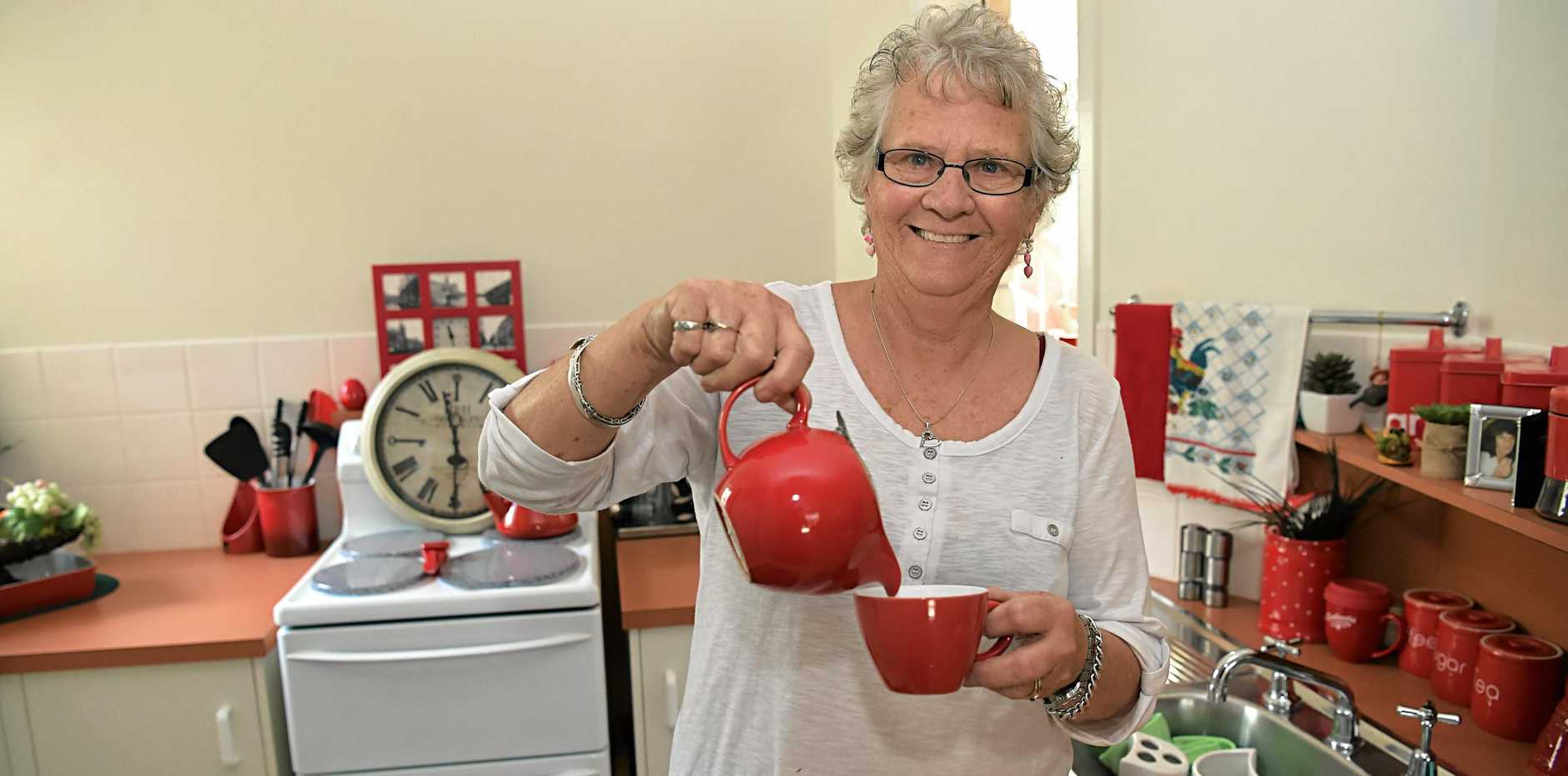 Val Wilson has settled into her new home after she had to move from the Military Jetty Caravan Park, Caloundra.