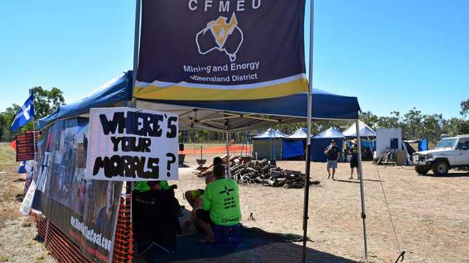 CFMEU staff are believed to be fighting for half the pay rise its employers is trying to get for Oaky North miners.