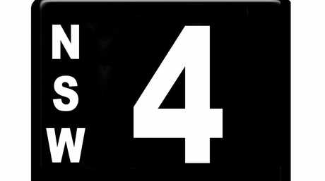 The New South Wales number plate '4' sold for $2.45 million at Shannons Sydney Winter Classic Auction.