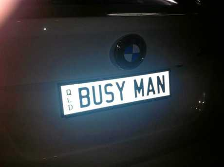 No so busy that you spent  time getting personalised plates.