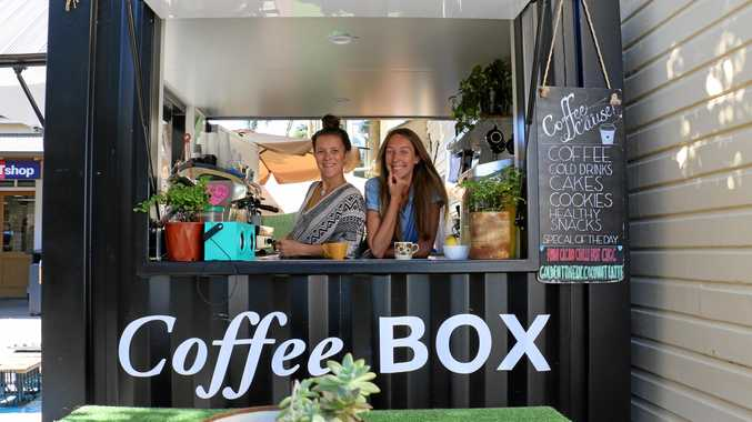 IN SUSPENSE: Coffee BOX manager Alice Lebrvre and program coordinator Shanti Des Fours.