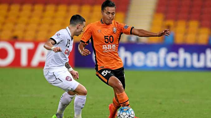 Dane Ingham during a game with the Brisbane Roar in February.