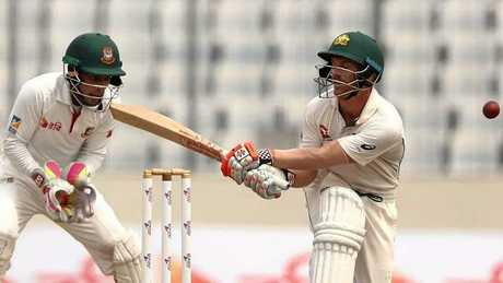 David Warner notched triple figures but his innings couldn't save Australia. Photo:Getty Images