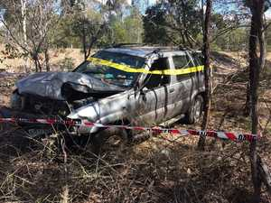 Car crashes on Bundaberg Gin Gin Rd