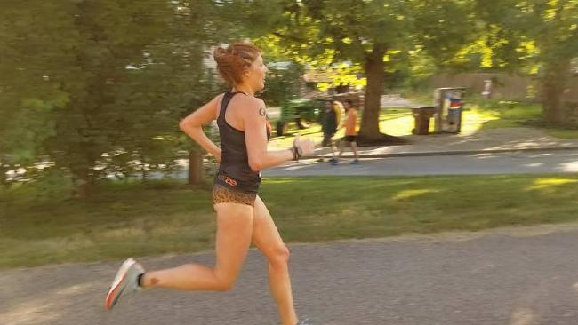 Laurah Lukin runs the half marathon: Picture: Facebook