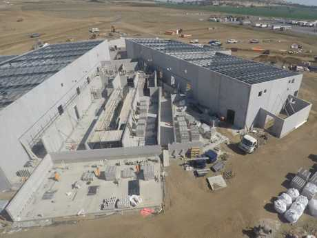 FORTRESS: An aerial view of the upcoming Pulse Data Centre, which is being built by FKG Group as a technological fortress in Toowoomba's western suburbs.