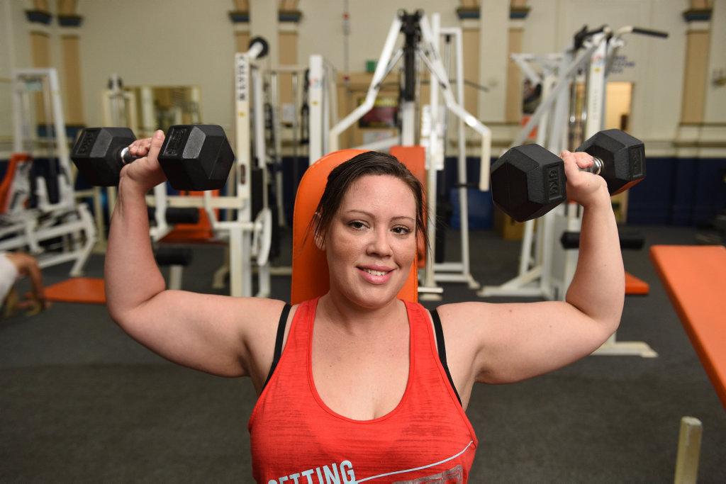 Maryborough's Sarah Nixon has lost 35 kgs.