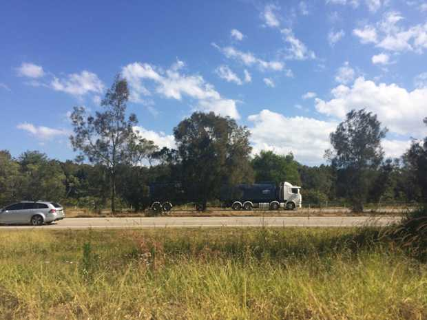 A 50-year-old man has died after being hit by a truck at Tweed Heads along the Pacific Hwy.