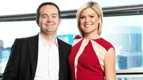Studio 10s executive producer Rob McKnight and host Sarah Harris.