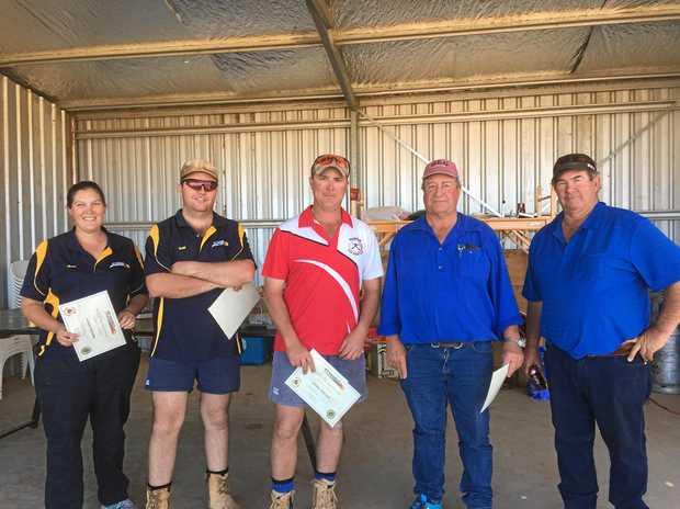WINNERS: High gun winners for August were Nicky Robertson, Todd Bradfield, Mark Robertson, Jeff Ferrier and Paul Kirby.