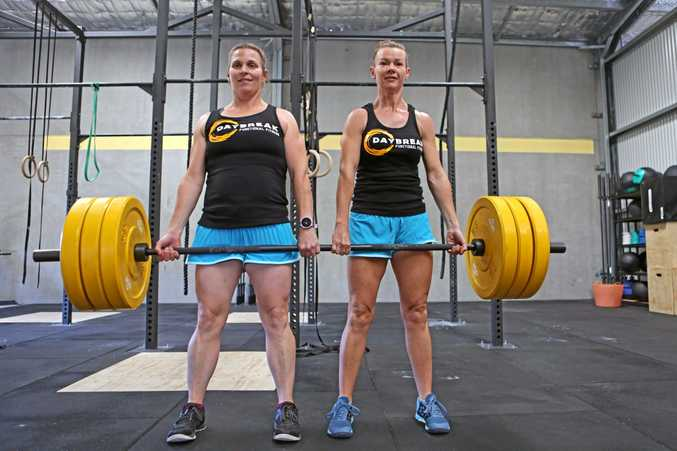 TEAM EFFORT: Fiona Tobin and Teresa Fowler are competing in The Butterfly Effect crossfit competition.