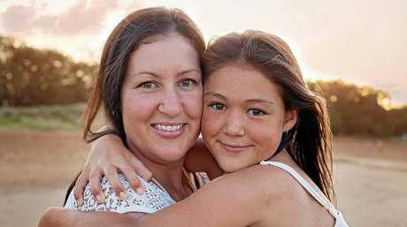 Morgan Parremore with her daughter Yasmine Hewitt.