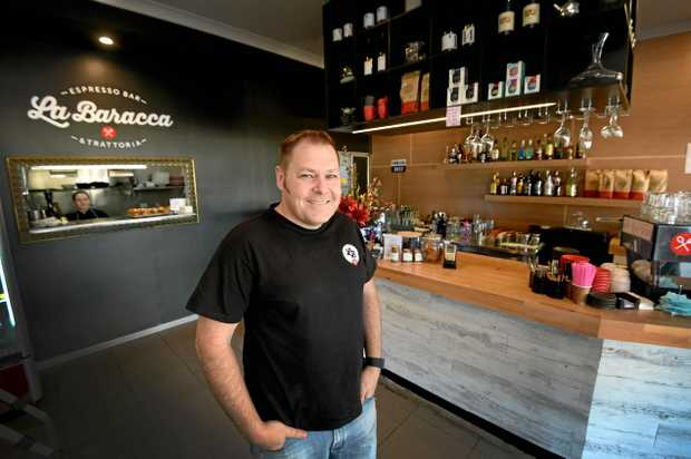 SURVIVOR: La Baracca Espresso Bar and Trattoria owner Steve Krieg happy the local eatery has returned to full service after the March flood.
