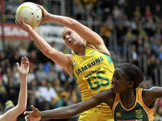Caitlin Thwaites starred for the Diamonds. Photo:AAP
