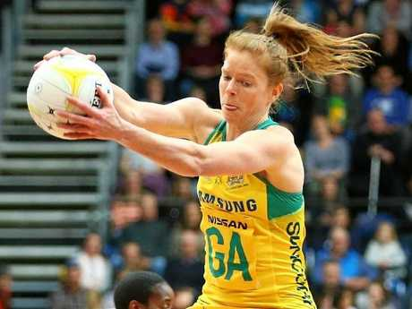Tegan Philip in action for the Diamonds. Photo:Getty Images